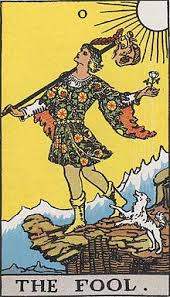 The Fool represents beginnings, innocence, spontaneity, and a free spirit .
